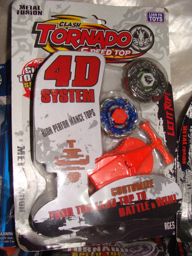 kit 2 beyblade metal fusion clash tornado 4d system