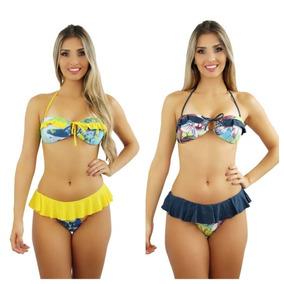 840057618 Biquine Tropical Azul Piscina Tamanho M - Maiôs e Biquinis Biquíni M ...
