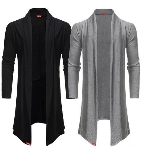 kit 2 blusa de frio cardigan masculino b22 frete gratis