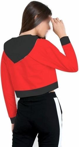 kit 2 blusa feminina minnie roupas crooped capuz moletom
