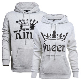091391b848a Kit 2 Blusas Moletom Canguru Casal King Queen Coroa Grande