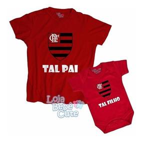 61ec98af8823c1 Kit 2 Blusas Tal Pai Tal Filho Time Flamengo Ouqualquer Time