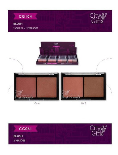 kit 2 blush city girls 2 cores 2 versoes cores alucinantes.