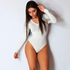 677c34a92b Body Manga Comprida De Capus Feminino Inverno Frio Collant Tamanho M -  Camisetas e Blusas Body M para Feminino no Mercado Livre Brasil