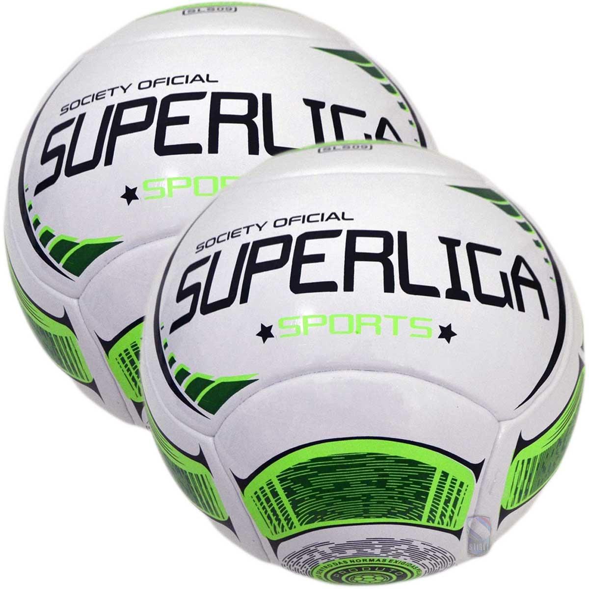 d6e0bd33c63a1 kit 2 bolas de futebol 7 society super liga oficial termotec. Carregando  zoom.