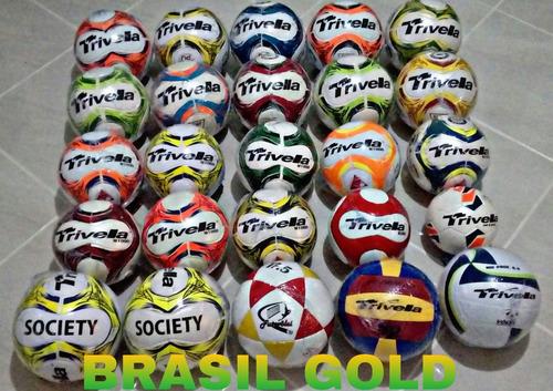 Kit 2 Bolas De Futsal 100% Pu Trivella Oficial - Bola Doze - R  117 ... cbe586db3a247