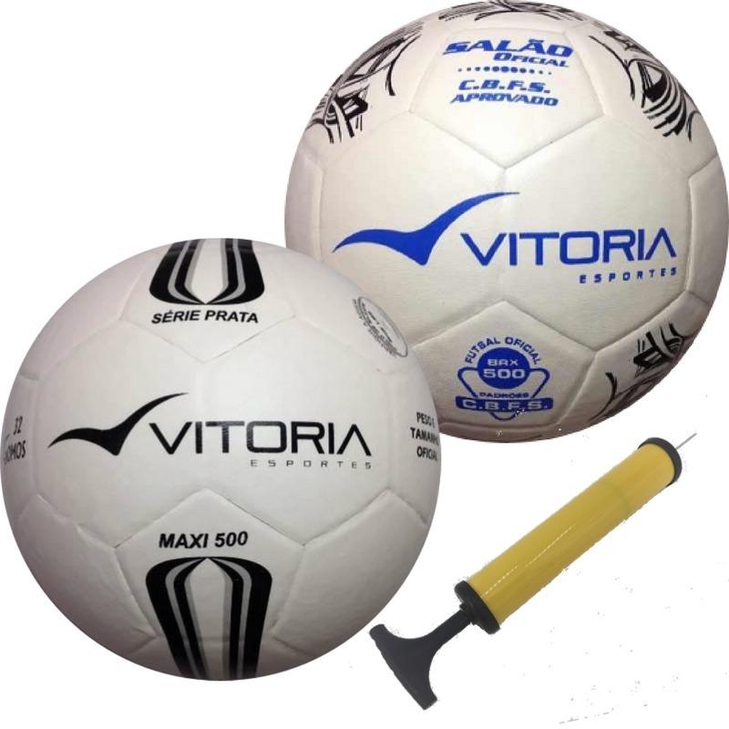Kit 2 Bolas Futsal Oficial  1 Prata Max 500 + 1 Brx 500 - R  129 ce204fdfb9a47
