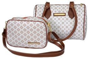e08e6f1823c6c Bolsa Feminina Em Couro Sintético (la Debbie France) - Bolsas Branco ...