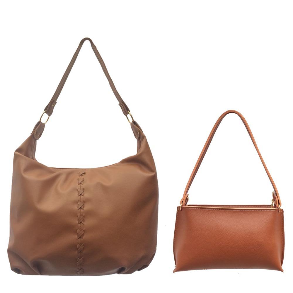 2257bba6d kit 2 bolsas - bolsas femininas couro sintético promoção. Carregando zoom.