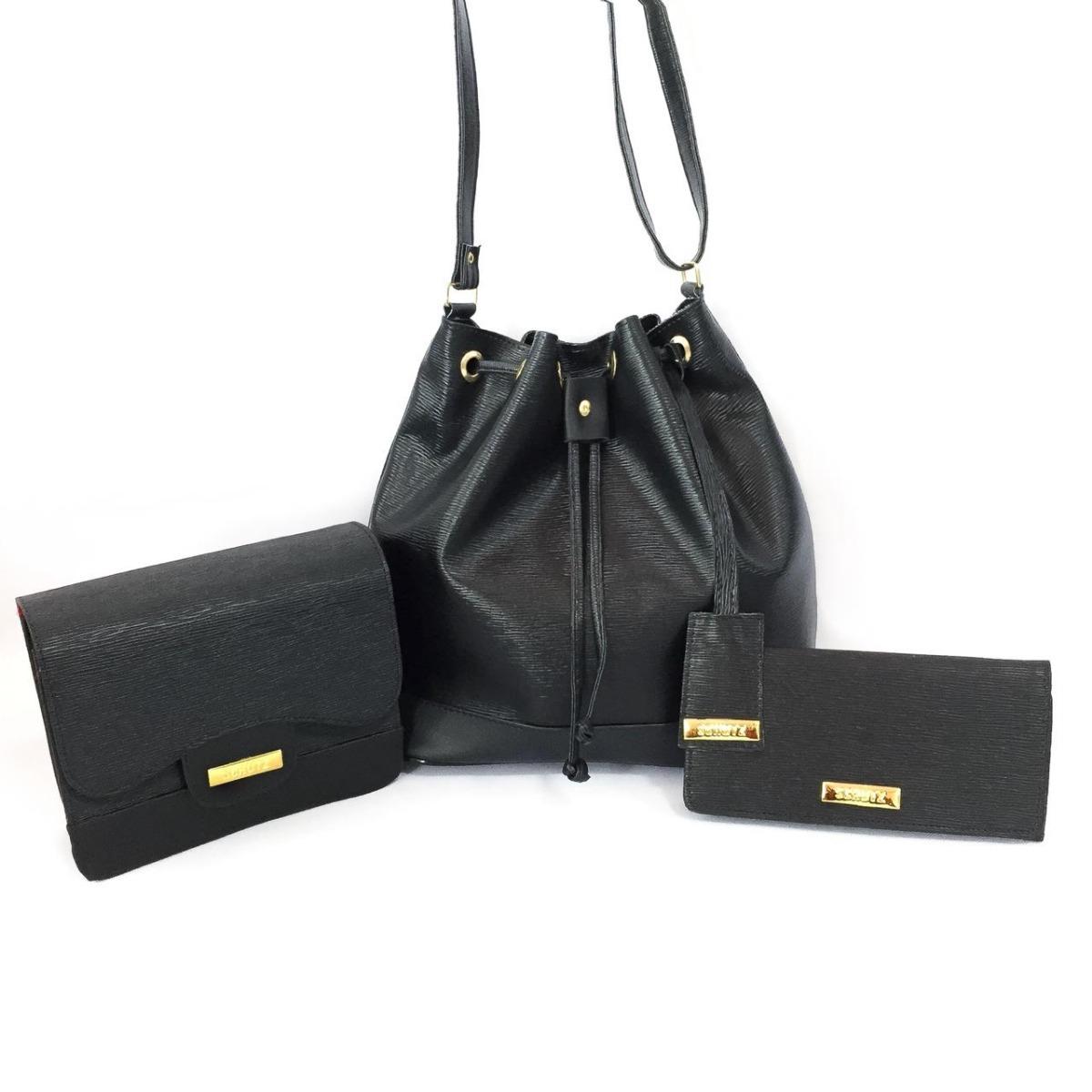 27896ef8a Kit 2 Bolsas Feminina + Carteira - R$ 129,90 em Mercado Livre