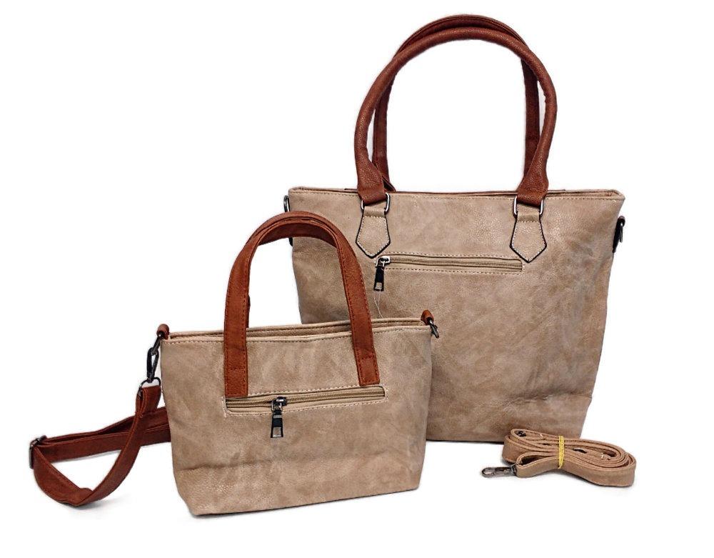 897e500ea kit 2 bolsas feminina de couro sintético resistentes grande. Carregando zoom .