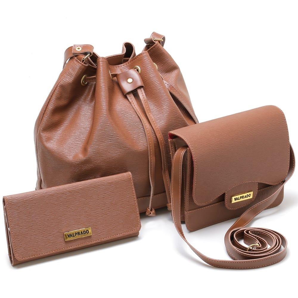 612a8962b Kit 2 Bolsas Femininas + Carteira - R$ 123,00 em Mercado Livre