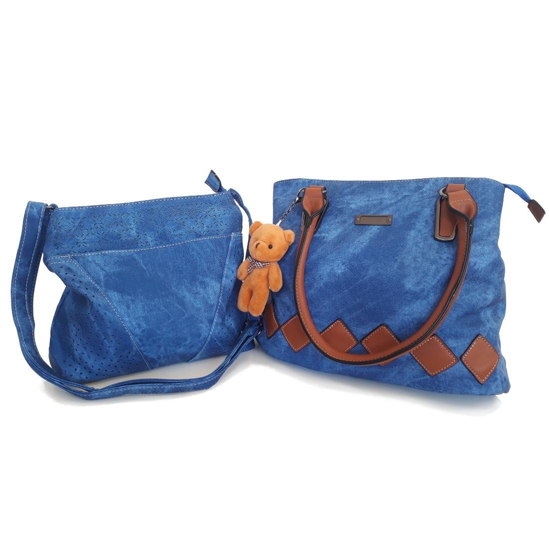 eae3f891fb kit 2 bolsas femininas importadas couro jeans lançamento. Carregando zoom.