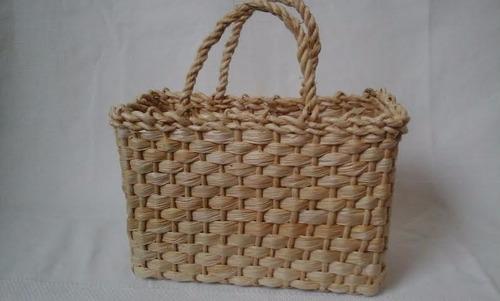 kit 2 bolsas sacolas lembrancinha infantil palha de milho