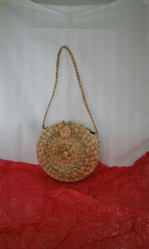 kit 2 bolsas sacolas palha taboa feira praia redondas