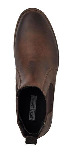 kit 2 bota chelsea masculino couro casual reforçada leve gel