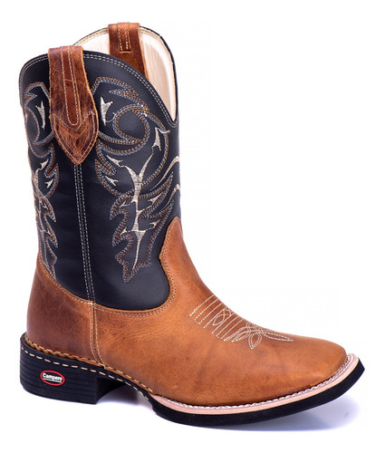 kit 2 bota country masculina bico quadrado texana lisa 223