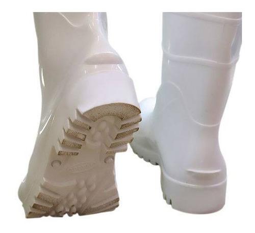 kit 2 botas de pvc impermeável c/ forro térmico proteção epi