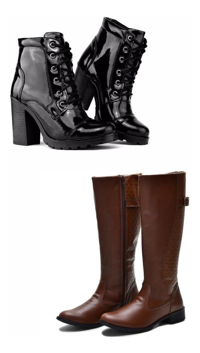 5f612a43d1 kit 2 botas montaria e tratorada feminina cano longo fivela. Carregando  zoom.