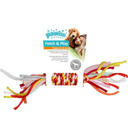 kit 2 brinquedos c/ esquilo pelúcia e corda p/ cães pawise