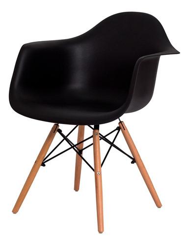kit 2 cadeiras eiffel eames daw c/braço base madeira várias cores
