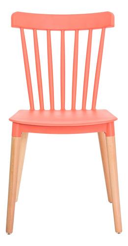 kit 2 cadeiras ellen polipropileno base madeira várias cores