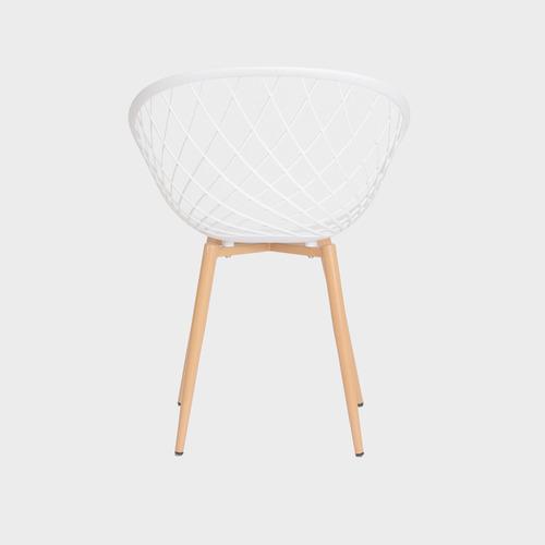 kit 2 cadeiras nova web base metal sala cozinha jantar