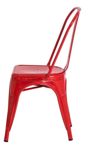 kit 2 cadeiras tolix iron design industrial várias cores