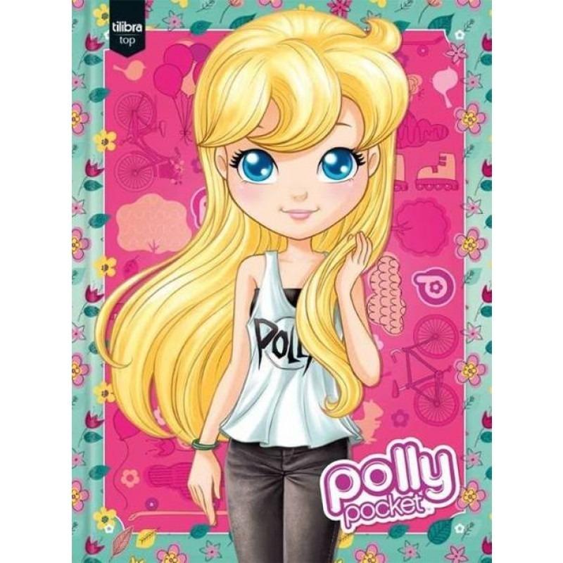 Kit 2 Cadernos Polly Pocket Brochurão Tilibra (96 Folhas