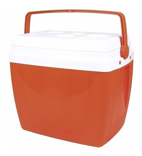 kit 2 caixas térmicas laranja 34 litros c/ alça - mor