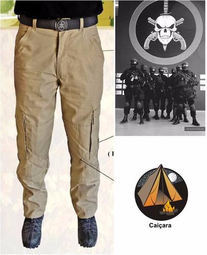 kit 2 calça cargo tatica militar + cinto bope - black friday
