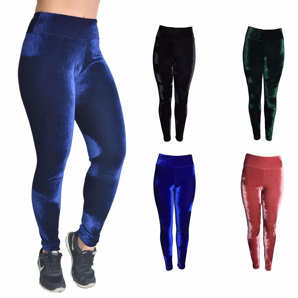 51f0d7c5a kit 2 calça de veludo molhado legging feminina cós alto leg. Carregando  zoom.