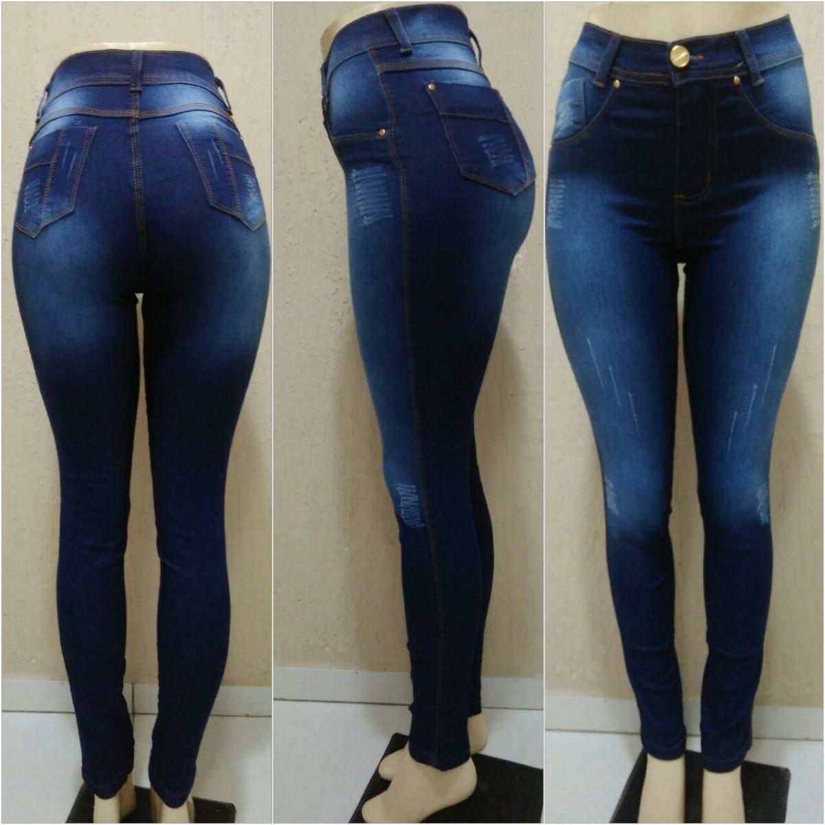 b972108bfc 4 kit 2 calça jeans feminina cintura plus size atacado c lycra. Carregando  zoom.