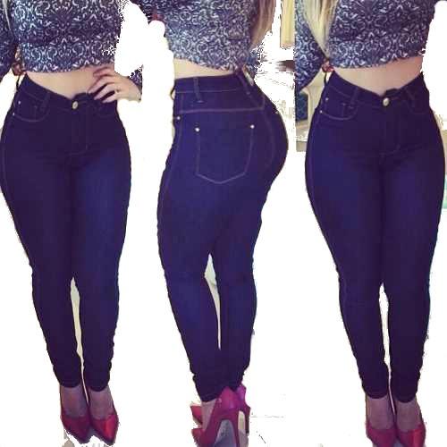 06c58012a Kit 2 Calça Jeans Feminina Cós Alto Atacado - R  89