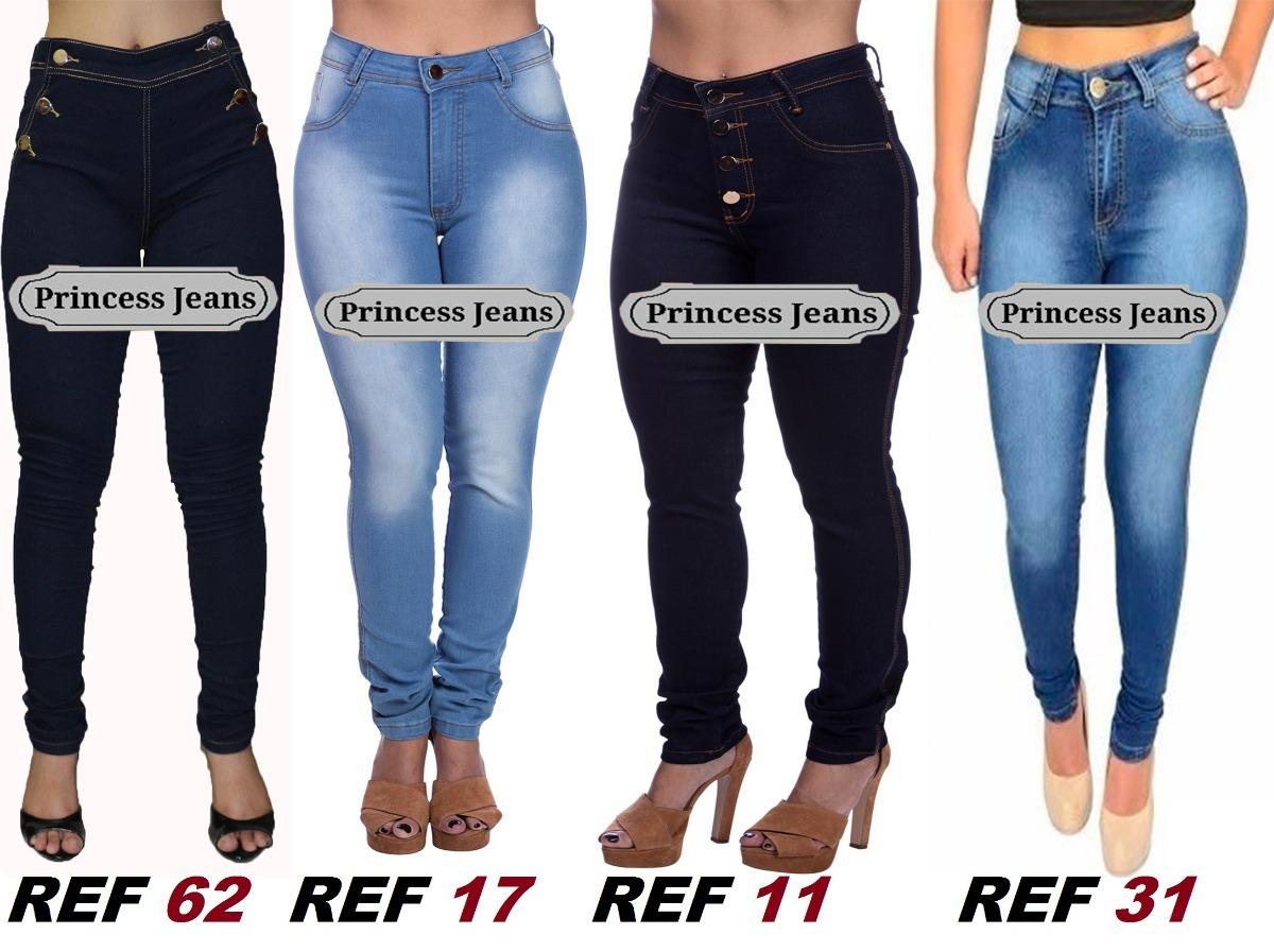459484b48 kit 2 calça jeans feminina lycra cós alto premium luxo. Carregando zoom.