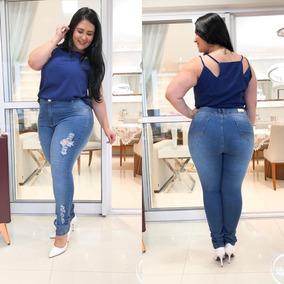 5be061c59 Kit Calça Jeans Plus Size Feminina Tamanho 48 - Calças Jeans ...