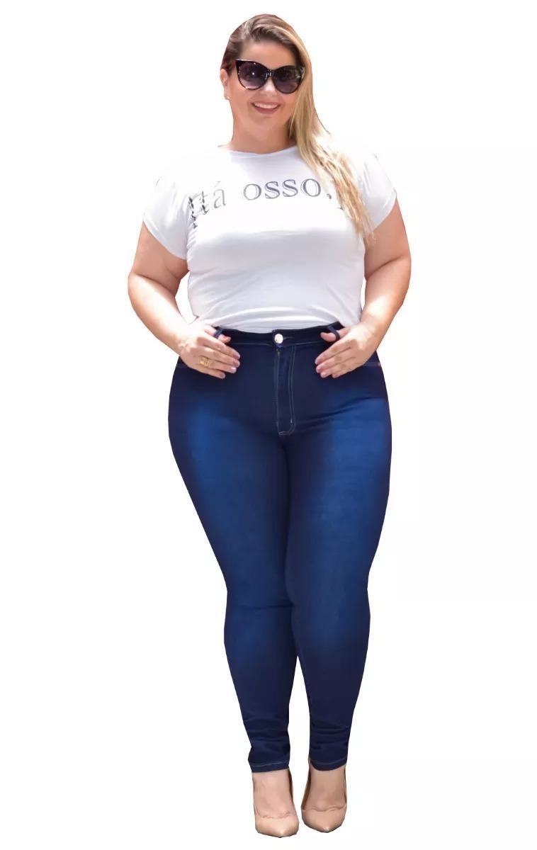 3f82a1c01 kit 2 calça jeans femininas plus size com lycra promoção. Carregando zoom.