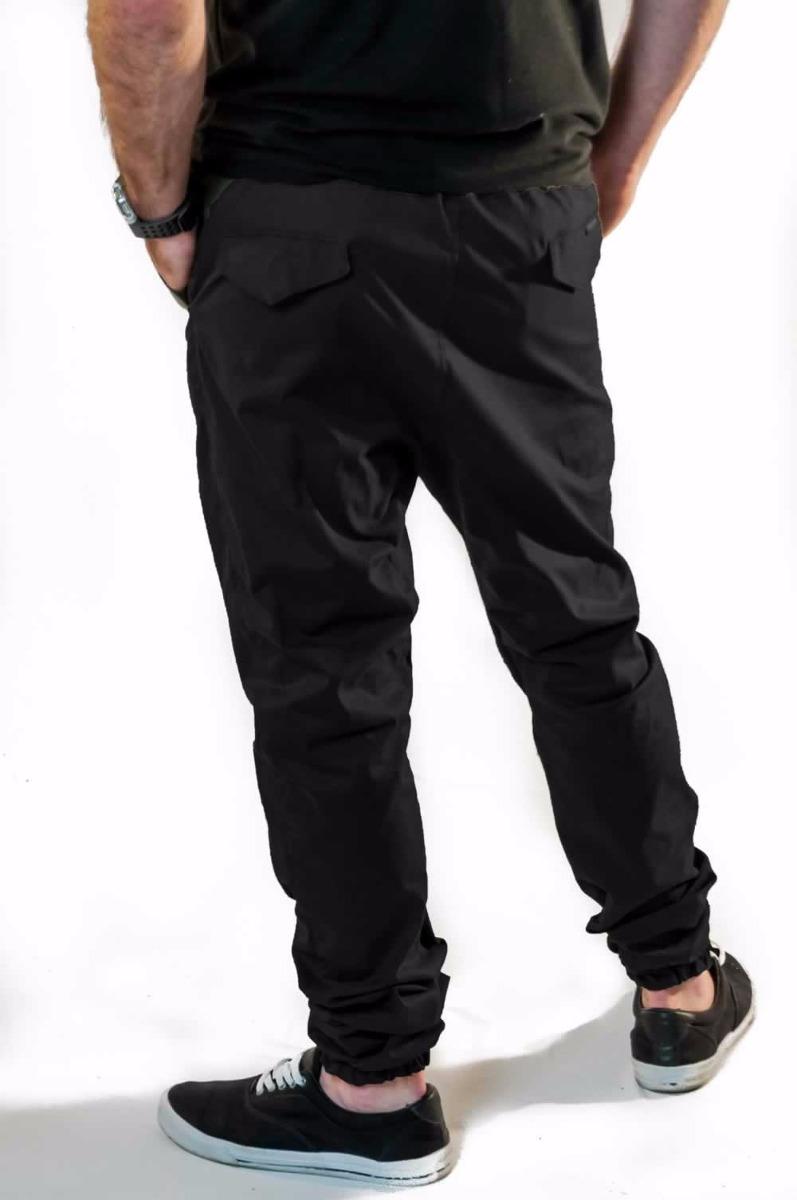 ed9de7931 kit 2 calça jogger sarja com elastano preta vcstilo. Carregando zoom.