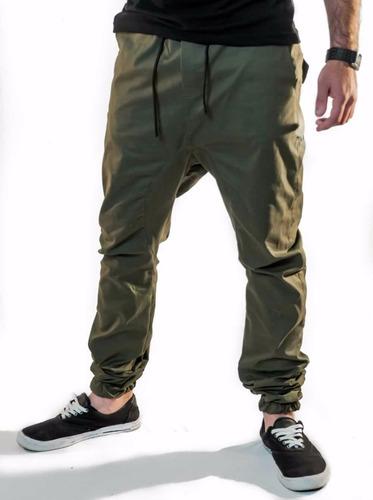 kit 2 calça jogger sarja com elastano preta vcstilo