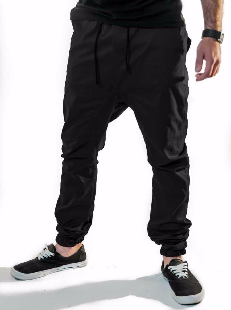 0d2ac4ef3 kit 2 calça jogger sarja com elastano preta vcstilo. Carregando zoom.