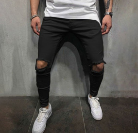 0362be1f26bb79 Kit 2 Calça Super Skinny Detonada Jeans Sarja Masculina