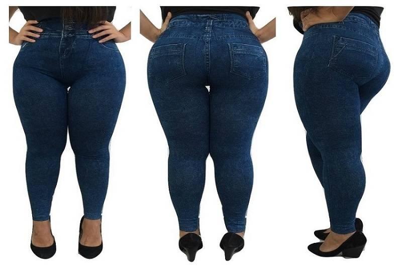 b87fc9856 kit 2 calças jeans feminina cintura alta com lycra promoção. Carregando zoom .