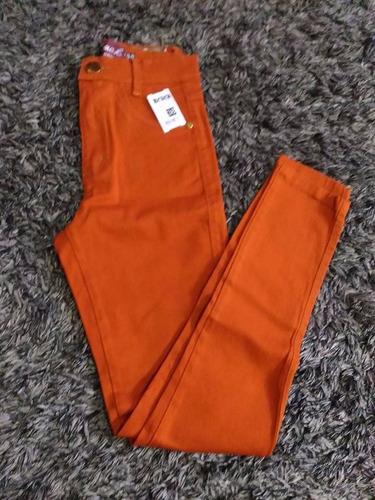 kit 2 calças jeans feminina cintura alta hot pants cós alto