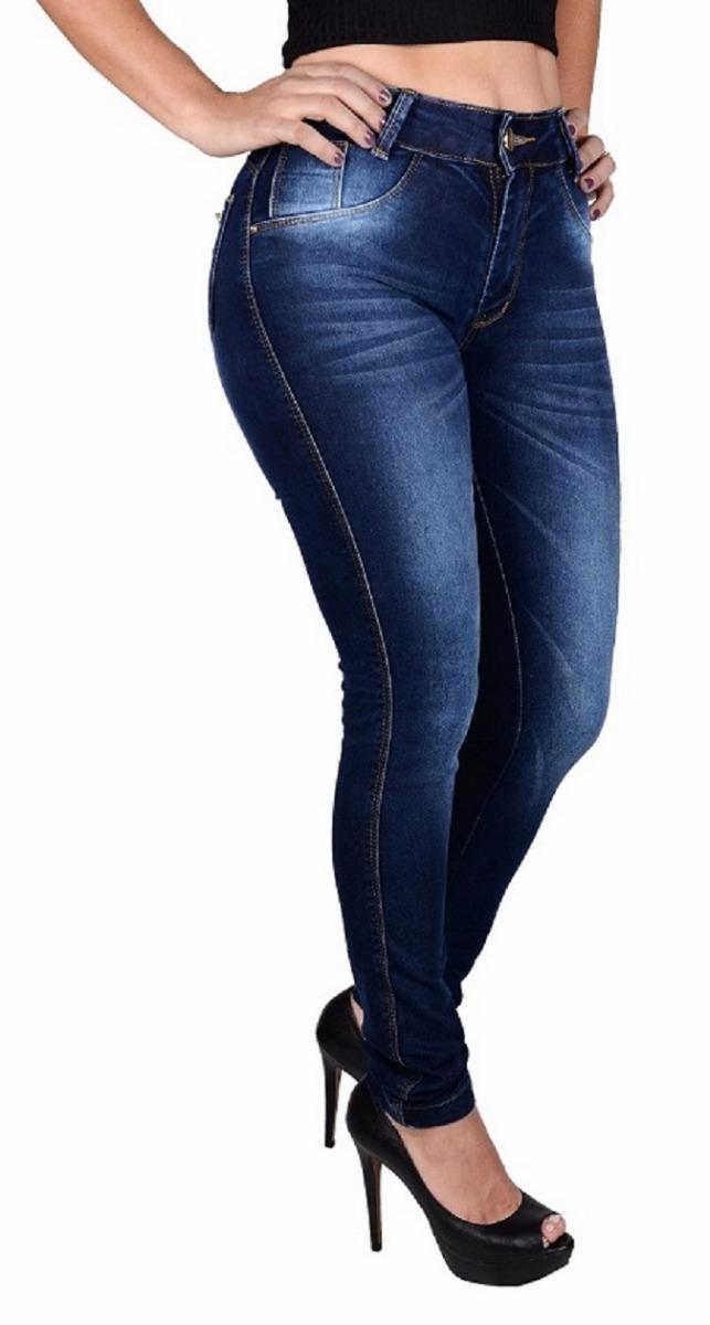 c060c34e7 kit 2 calças jeans feminina cintura alta lycra levanta bumbu. Carregando  zoom.