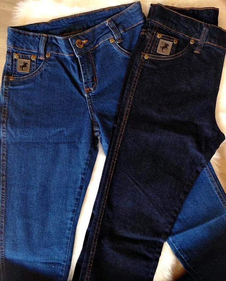 Kit 2 Calças Jeans Feminina Retas (rodeio Country) Original - R  179 ... fc888be1ec5
