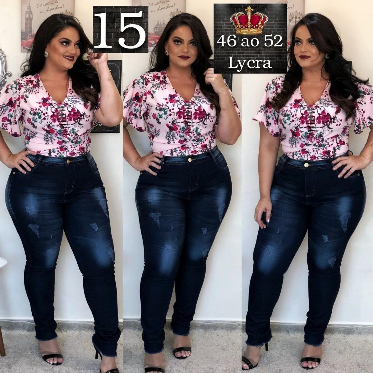 ec8529152 kit 2 calças jeans plus size cintura alta tendência gg ref 1. Carregando  zoom.