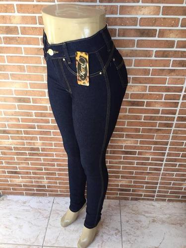 kit 2 calças jeans plus size feminina cintura alta - 159