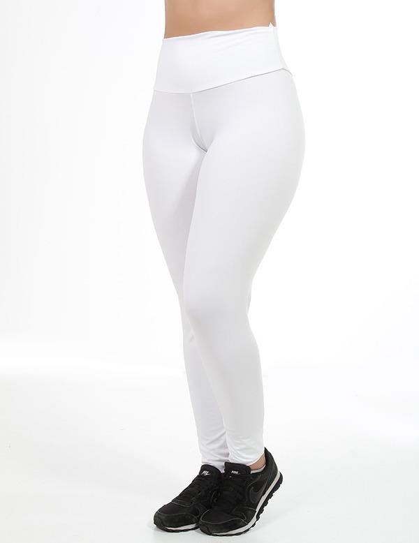 ddd8cab61b Kit 2 Calças Legging Branca Off White Sublimação Feminina - R  38