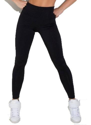 kit 2 calças legins suplex basico/cintura alta 8 cm