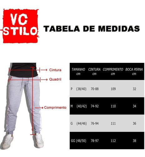 kit 2 calças moletom saruel skinny swag masculina vcstilo